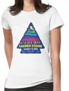Sacred Stone Shirt Womens Fitted T-Shirt