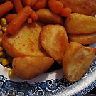 Roast Potatoes with Carrots and Sweet Corn by BlueMoonRose