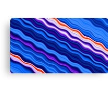 Clorful abstract fractal line background Canvas Print