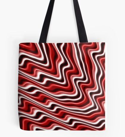 Clorful abstract fractal line background Tote Bag