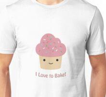 I love to bake! Cupcake Unisex T-Shirt