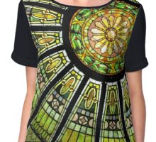 Stained Glass Abstract Chiffon Top