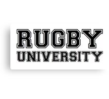 Rugby University Canvas Print