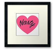 We Heart Nasty Women and Men Framed Print