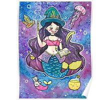 Witchy Mermaid Poster