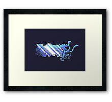 Scuba Pixel Framed Print