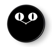 White Minimalistic Cat Eyes Clock