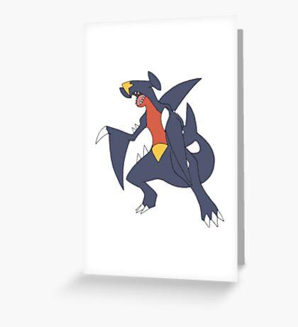 Garchomp Greeting Card