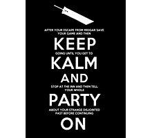 Keep Kalm Photographic Print