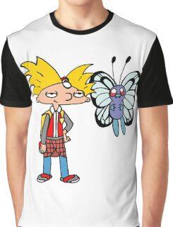 Hey Arnold! Pokemon Trainer Graphic T-Shirt