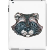 raccoon graphic face iPad Case/Skin