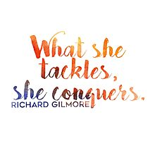 What She Tackles, She Conquers Photographic Print
