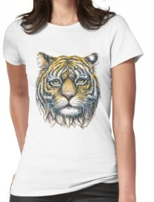 tiger face illustration  Womens Fitted T-Shirt