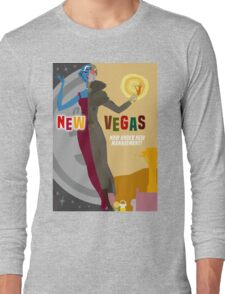 Vintage New Vegas Tourism Poster: Platinum Chip Long Sleeve T-Shirt