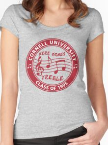 Here Comes Treble Women's Fitted Scoop T-Shirt