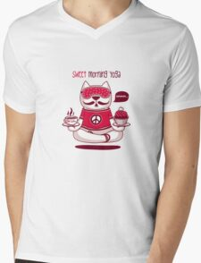 Sweet Morning Yoga Mens V-Neck T-Shirt