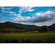 Green landscapes Photographic Print