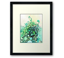 Visible Connections - Watercolor and Pen Art Framed Print