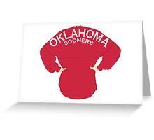 Oklahoma Spirit Jersey - Red Greeting Card