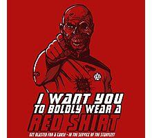 Red Shirt Photographic Print
