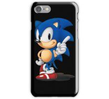 The Classic Blue Hedgehog (black background) iPhone Case/Skin