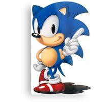 The Classic Blue Hedgehog (black background) Metal Print