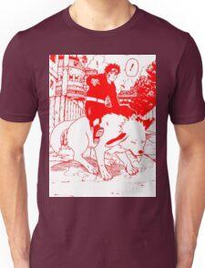 Red manga kiba akamaru Unisex T-Shirt