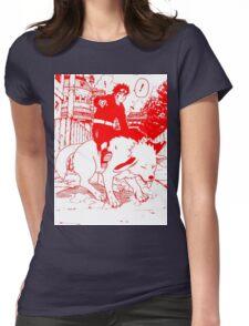 Red manga kiba akamaru Womens Fitted T-Shirt
