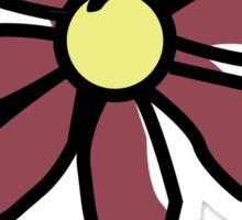 Life is Good Maroon Flower Sticker