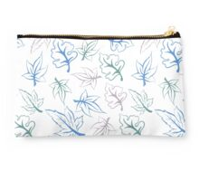 pastel leaves pattern Studio Pouch