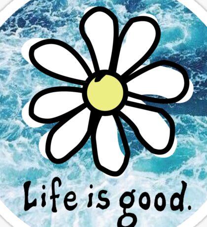Life is Good Ocean Sticker