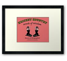KRICKET KOUNTRY Words of Wisdom on PHOTOGRAPHERS! Framed Print