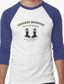 KRICKET KOUNTRY Words of Wisdom on PHOTOGRAPHERS! Men's Baseball ¾ T-Shirt