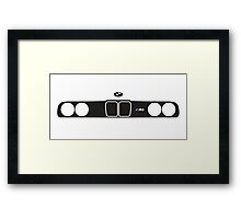 BMW E30 M3 kidney grill and headlights Framed Print