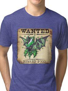Dark/Poison Bat Most Wanted Poster Tri-blend T-Shirt