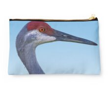 Sandhill Crane in Blue Studio Pouch