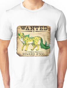 Electric Cheetah - Most Wanted Poster Unisex T-Shirt