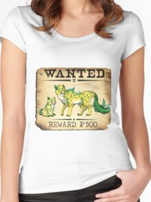 Electric Cheetah Family - Most Wanted Poster Women's Fitted Scoop T-Shirt