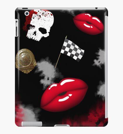 Halloween-Pop Culture-Skull-Badge -Lips Trifecta  iPad Case/Skin
