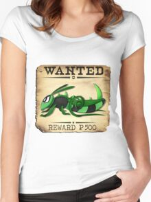 Bug/Dark Grasshopper - Most Wanted Poster Women's Fitted Scoop T-Shirt