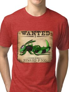 Bug/Dark Grasshopper - Most Wanted Poster Tri-blend T-Shirt