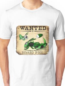 Bug/Dark Grasshopper Family - Most Wanted Poster Unisex T-Shirt