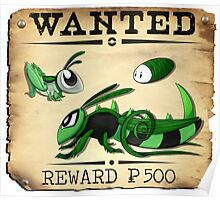 Bug/Dark Grasshopper Family - Most Wanted Poster Poster