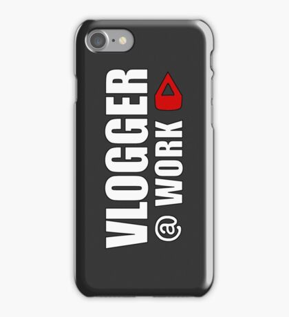 VLOGGER AT WORK (GREY ON CLEAR) iPhone Case/Skin