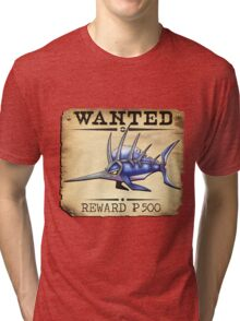 Sailfish/Swordfish - Most Wanted Poster Tri-blend T-Shirt
