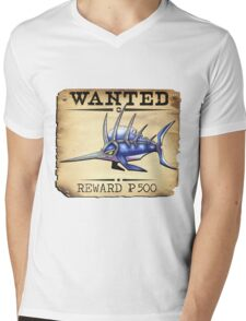 Sailfish/Swordfish - Most Wanted Poster Mens V-Neck T-Shirt