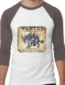 War Rhino - Most Wanted Poster Men's Baseball ¾ T-Shirt