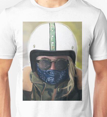 Blonde Biker Unisex T-Shirt