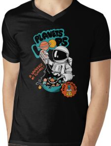 Planets Cereal Mens V-Neck T-Shirt