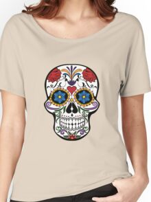 Day of the Dead Skull Design Women's Relaxed Fit T-Shirt